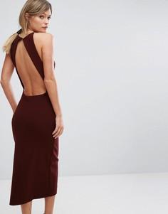 Платье миди с открытой спиной Bec & Bridge Love Ruler - Красный