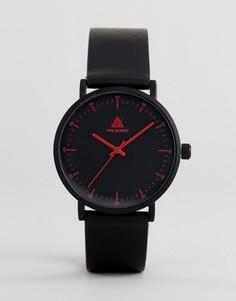 Монохромные часы с красной отделкой ASOS - Черный