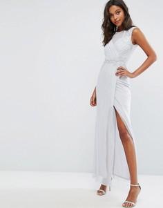 Платье макси с пайетками Michelle Keegan Love Lipsy - Серебряный