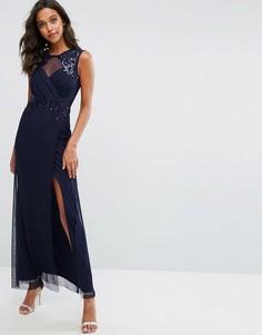 Платье макси с пайетками Michelle Keegan Love Lipsy - Темно-синий