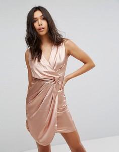 Платье с запахом Lipsy - Золотой