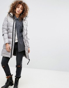 Длинное дутое пальто G-Star Whistler - Серебряный
