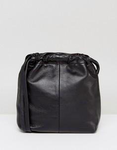 Черная кожаная сумка через плечо Vagabond - Черный