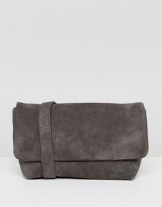 Серый замшевый рюкзак Vagabond - Серый