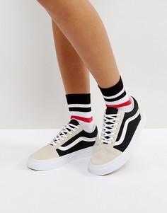 Замшевые кроссовки в стиле колор блок Vans Old Skool - Мульти