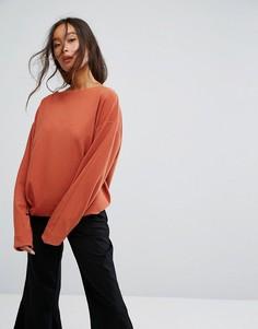 Неопреновый свитшот Weekday - Оранжевый
