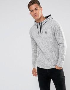 Серый меланжевый худи с логотипом Hollister Athletic Icon - Серый