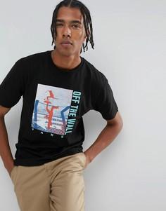 Черная футболка с принтом Vans Above Chima VA36FJBLK - Черный