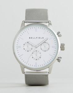 Часы с серебристым ремешком Bellfield - Серебряный
