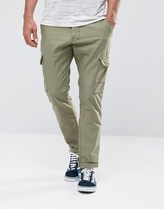 Суженные книзу брюки карго Esprit - Зеленый
