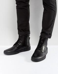 Кожаные ботинки Zign - Черный