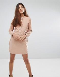 Платье-рубашка с карманом Vanessa Bruno Athe Haritz - Коричневый