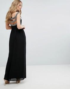 Платье макси с отделкой на спине TFNC WEDDING - Черный