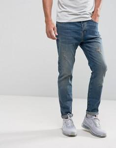 Синие свободные джинсы YOURTURN - Синий
