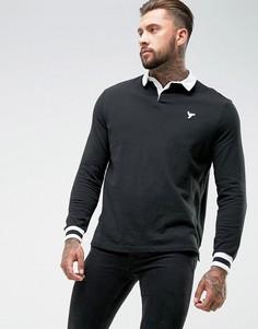 Черная рубашка регби YOURTURN - Черный