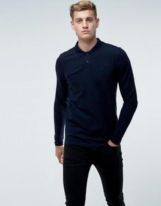Поло с длинными рукавами Jack & Jones Premium - Темно-синий