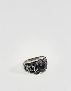 Массивное кольцо с камнем ASOS - Серебряный