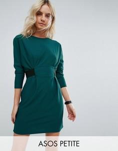 Платье мини с эластичным поясом ASOS PETITE - Мульти