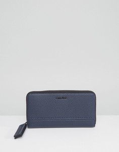 Кошелек с молнией по периметру Calvin Klein - Синий