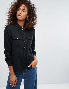 Джинсовая рубашка Noisy May - Черный
