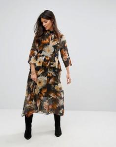 Платье с цветочным принтом Gestuz - Мульти