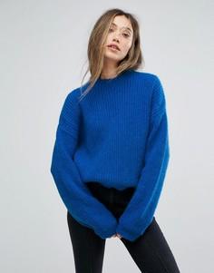 Синий пуловер с круглым вырезом Gestuz - Синий