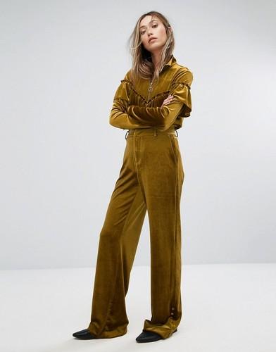 Широкие бархатные брюки Gestuz - Золотой
