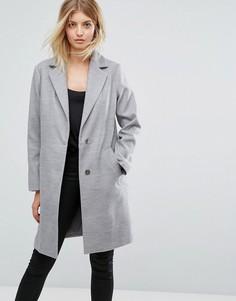 Строгое пальто New Look - Серый