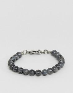 Серый браслет из бусин Seven London - Серый