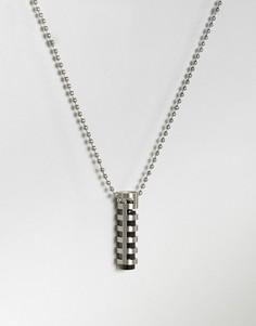Серебристое ожерелье с трубчатой подвеской Seven London - Серебряный