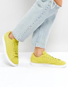 Желтые низкие замшевые кроссовки Nike Blazer - Желтый
