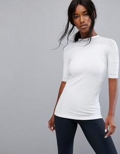 Узкая белая футболка adidas - Белый