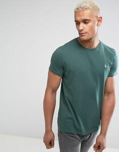 Зеленая базовая футболка Jack Wills Sandleford - Зеленый