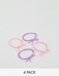4 резинки для волос с бантами ASOS - Мульти