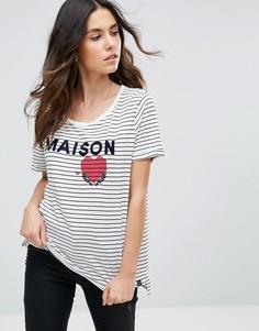 Свободная футболка с логотипом Maison Scotch - Мульти