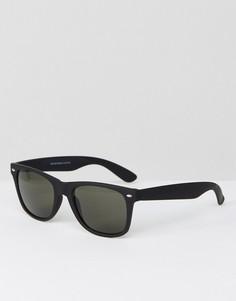Черные солнцезащитные очки Selected Homme - Коричневый