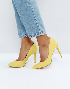 Желтые туфли-лодочки из искусственной замши New Look - Желтый