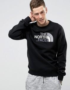 Черный свитшот с круглым вырезом и логотипом на груди The North Face - Черный