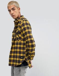 Желтая свободная рубашка в клетку из фланели Sixth June - Желтый