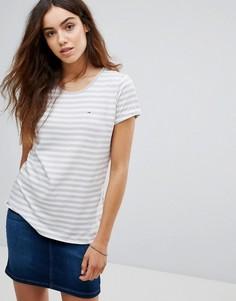 Базовая футболка в полоску Tommy Hilfiger Denim - Серый