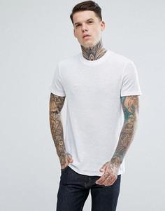 Белая фактурная футболка ASOS - Белый