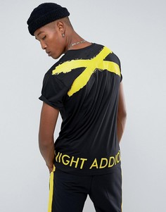 Футболка с фактурным принтом на спине Night Addict Jordan - Черный