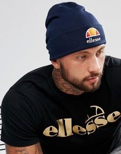 Темно-синяя шапка-бини с логотипом Ellesse - Темно-синий