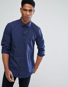 Облегающая рубашка Tommy Hilfiger - Темно-синий