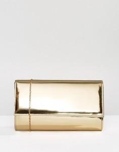Клатч с эффектом металлик Chi Chi London - Золотой