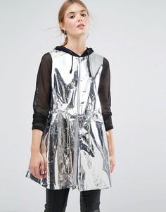 Куртка с эффектом металлик Weekday Press Collection - Серебряный