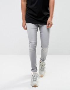 Светло-серые джинсы скинни Waven Extreme - Серый