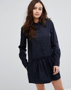 Платье с оборкой на подоле Vila - Темно-синий