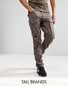 Суженные книзу брюки карго с молнией G-Star TALL Rovic 3D - Серый