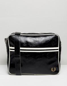 Черная сумка почтальона Fred Perry - Черный